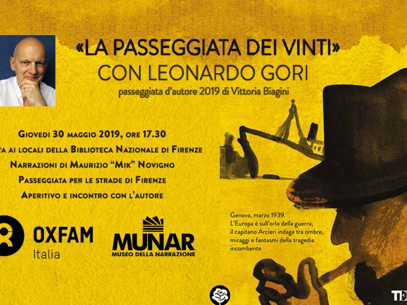 «La passeggiata dei vinti» con Leonardo Gori