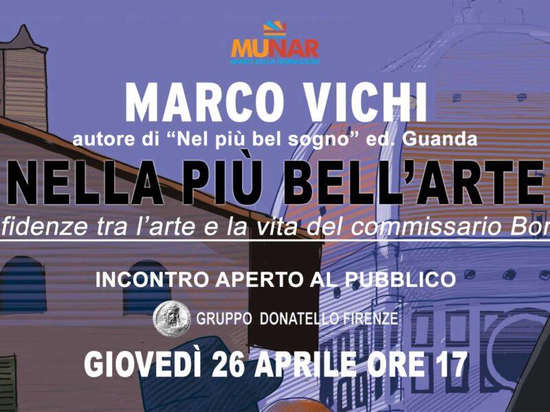 «Nella più bell'arte» incontro con Marco Vichi